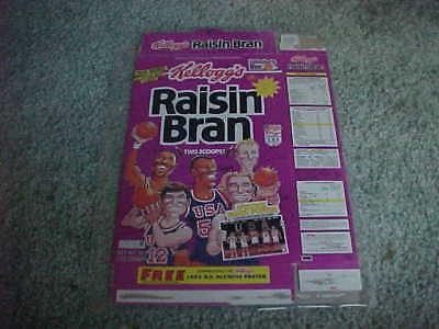 1992 USA Basketball Raisin Bran Cereal Box Family Back Larry Bird Karl Malone