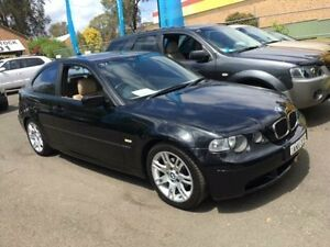 2003 BMW 318TI E46 18TI Black 5 Speed Auto Steptronic Hatchback Campbelltown Campbelltown Area Preview