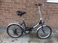 Tiger foldaway bicycle ready to ride cheapest on internet reduced for quick sale