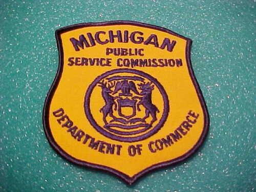MICHIGAN PUBLIC SERVICE COMMISSION PATCH SHOULDER SIZE UNUSED