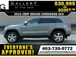 2012 Grand Cherokee Overland $209 bi-weekly APPLY NOW DRIVE NOW