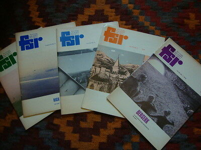 #4 Flying Saucer Review FSR Magazine x 5 Issues 1974 Rare UFO Mags