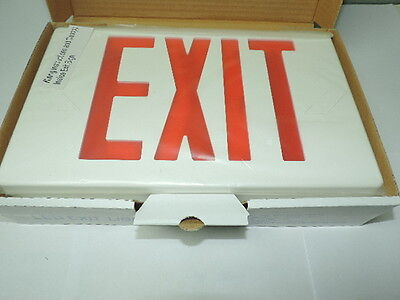 - LED Plastic Exit Sign 120V/277V White Red Letters, 1 or 2 Sided Dual Circuit
