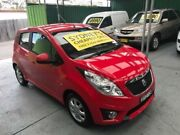 2010 Holden Barina Spark MJ MY11 CD Red 5 Speed Manual Hatchback Five Dock Canada Bay Area Preview