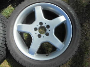 Mercedes, Audi, VW 18 in alloys, Dunlop M3 winter tires