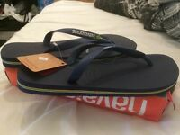 Size 8 Havaianas Brazil Flip Flops brand new With Tags