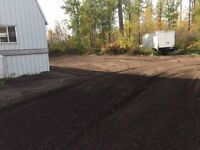 26' Storage Container + 1/4 acre Gravel Yard