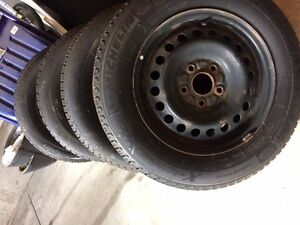 205/65R15 Michelin winter tires with steel rims