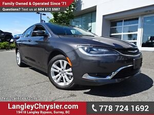 "2016 Chrysler 200 Limited W/ 8.4"" TOUCHSCREEN DISPLAY, REAR-V..."
