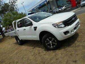 2012 Ford Ranger PX XL 2.2 (4x4) White 6 Speed Automatic Crew C/Chas Belconnen Belconnen Area Preview