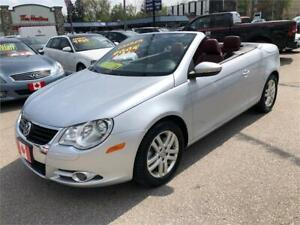 2009 Volkswagen Eos Silver-Red Edition CONVERTIBLE...MINT COND.