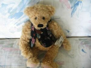 "18"" BASIL GANZ BEAR,ORIGINAL VEST,TAGS, YES,NO BEAR"