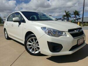 2013 Subaru Impreza G4 MY13 2.0i AWD White 6 Speed Manual Hatchback Garbutt Townsville City Preview