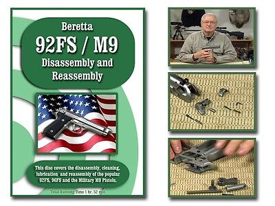 BERETTA 92FS/M9 INSTRUCTIONAL DISASSEMBLY, CLEAN, LUBRICATION AND REASSEMBLY DVD