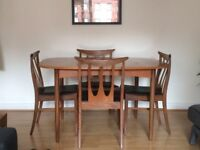 Vintage G Plan (Red Label) Teak Dining Table and Four Chairs