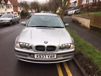 BARGAIN - BMW 318 AUTOMATIC PETROL FOR SALE - Two Previous Lady owners - MOT exp July 2017