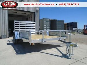 SIDE LOADING ATV TRAILER BUILT OUT OF ALL ALUMINUM 82''X12' London Ontario image 1
