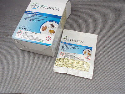BAYER Ficam W 5 x 15g INSECTICIDE MITE FLEA ANTS INSECTS BED BUGS 10.00 per pack