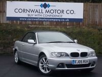 BMW 3 SERIES 2.0 320CD SE 2d 148 BHP 3 OWNER CONVERTIBLE (silver) 2005
