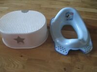 Mickey Mouse toilet seat and Little Stars step stool RRP £15
