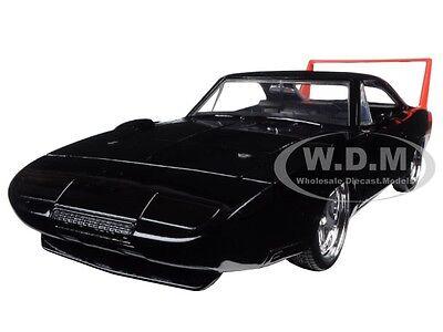1969 DODGE CHARGER DAYTONA BLACK 1/24 DIECAST MODEL CAR BY JADA 97681