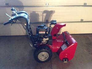 "Craftsman 24"" snow blower (1 1/2 seasons used) VIRTUALLY NEW"