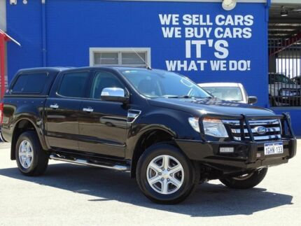 2013 Ford Ranger PX XLT Double Cab 4x2 Hi-Rider Black 6 Speed Sports Automatic Utility Welshpool Canning Area Preview