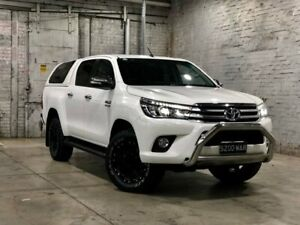 2015 Toyota Hilux GUN126R SR5 Double Cab White 6 Speed Manual Utility Mile End South West Torrens Area Preview