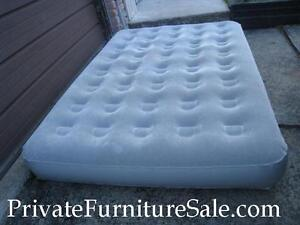 2 Slightly used Inflatable Mattresses, Double - $40,Single - $30