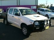 2010 Toyota Hilux KUN26R 09 Upgrade SR (4x4) White 5 Speed Manual Dual Cab Chassis Dubbo Dubbo Area Preview