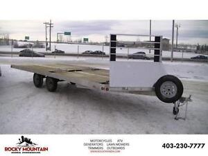 22 FOOT DRIVE ON/OFF ALUMINUM TRAILER