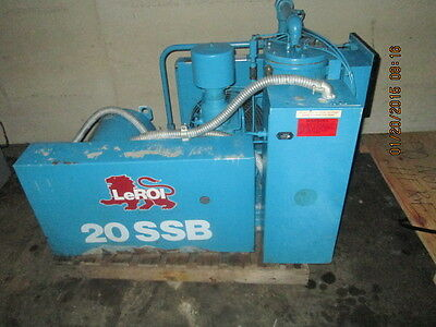 Leroi Model 20ssb Rotary Compressor 20 H.p. 80 Cfm Only 12k Hours