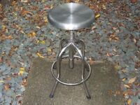 Stainless Steel Height Adjustable Stool