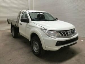 2015 Mitsubishi Triton MQ MY16 GLX (4x4) White 6 Speed Manual Cab Chassis Bohle Townsville City Preview