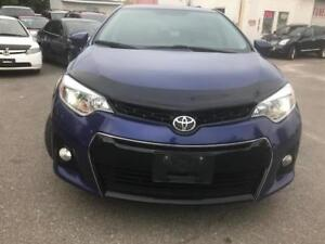 2014 Toyota Corolla S, PL, PW, AC, B/V CAM, CERTIFIED