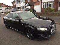 AUDI A4 2.0 TDI S LINE, 170 BHP. FULL SERVICE HISTORY, GREAT CONDITION ONLY £6500