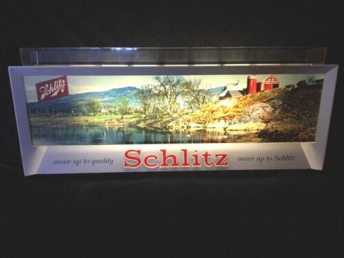 SCHLITZ Beer  VINTAGE 1955 LIGHTED Bar Sign