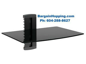 Single AV Audio Video Component DVD Wall Shelf Bracket
