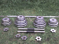 133 lb 60 kg Chrome Metal Dumbbell & Barbell Weights