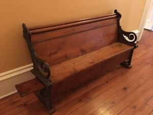 Beautiful antique bench / church pew