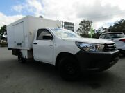 2016 Toyota Hilux GUN122R Workmate White 5 Speed Manual Cab Chassis Underwood Logan Area Preview