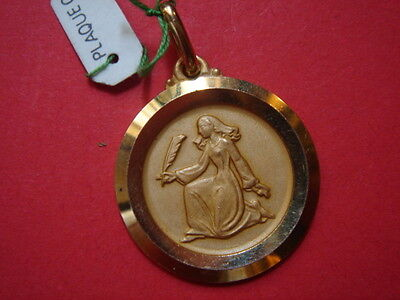 Very Belle Medal Pious Gold Plated Vintage 60/70 New