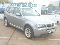 BMW X3 3.0 D M SPORT 5d 215 BHP www.jandicarsplymouth.co. (grey) 2005