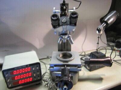 Unitron Toolmakers Microscope Model Tmd Boeckeler Microcode2 Measuring System
