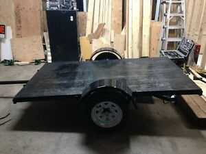 New.... Trailer which tilt... 66 inch (inside wheel) x 10 ft...