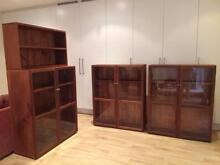 3 Glass fronted Mahogany bookshelves Lane Cove Lane Cove Area Preview