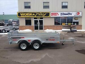 "2017 K-Trail 66"" x 10.25' Galvanized Utility Trailer"