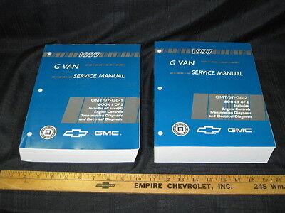 1997 GM Chevrolet GMC G Van Express Savana Shop Service Manual Set for sale  Goderich