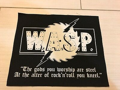 W.A.S.P. - Rare Back Patch - Blackie Lawless - Motley Crue - Iron Maiden - WASP