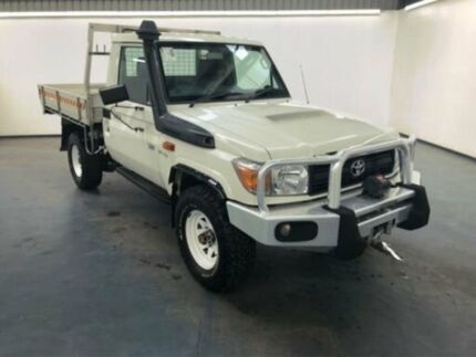 2014 Toyota Landcruiser VDJ79R MY13 WORKMATE Glacier White Manual CAB CHASSIS SINGLE CAB Albion Brimbank Area Preview